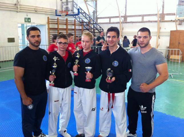 A mesterek: Rádai Imre, Rádai Roland és a versenyzők
